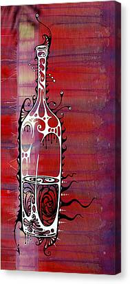 Wine Bottle Canvas Print - Zinfandel by John Benko