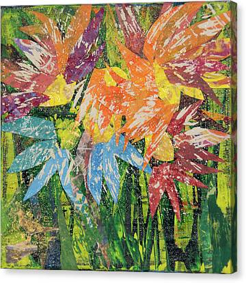 Zinnias Gone Mad Canvas Print