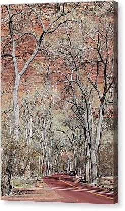 Zion At Kayenta Trail Canvas Print by Viktor Savchenko