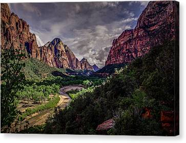 Zion Canyon Along Emerald Pools Trail Canvas Print by Scott McGuire