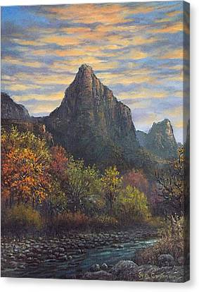Zion Canyon Canvas Print by Sean Conlon