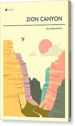 Zion National Park Canvas Print - Zion National Park Poster by Jazzberry Blue