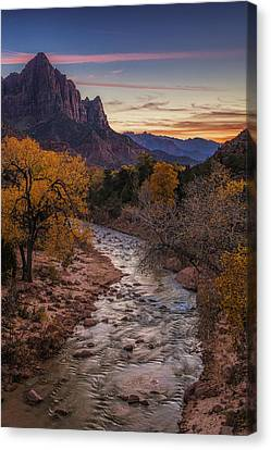 Zion Sunset Canvas Print by Andrew Soundarajan