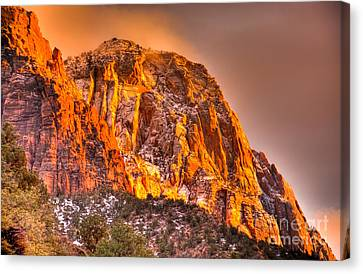 Zion's Fire I Canvas Print by Irene Abdou