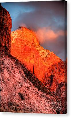 Zion's Fire II Canvas Print by Irene Abdou