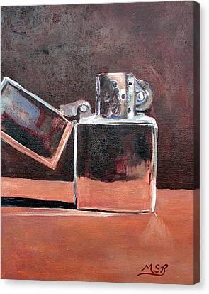 Zippo-light My Fire  Canvas Print by Maria Soto Robbins