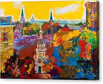 Znamenka Street. Moscow Canvas Print by Khadzhi-Murad Alikhanov