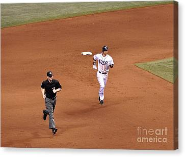 Zobrist On The Run Canvas Print by John Black