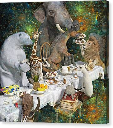Zodiac Brainstorming Canvas Print by Betsy Knapp
