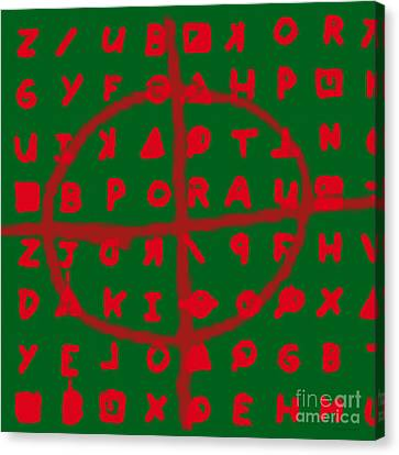 Zodiac Killer Code And Sign 20130213 Canvas Print by Wingsdomain Art and Photography