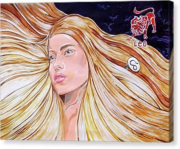 Zodiac Series_ Leo Canvas Print by Lazaro Hurtado