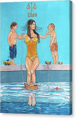 Zodiac Series_ Libra Canvas Print by Lazaro Hurtado