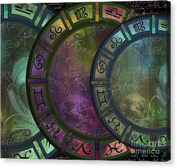 Zodiac Wheel Canvas Print by Mindy Sommers
