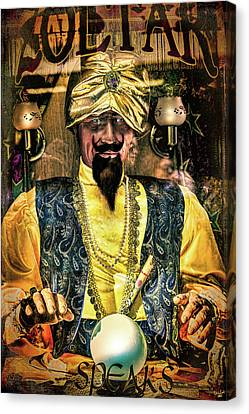 Canvas Print featuring the photograph Zoltar by Chris Lord