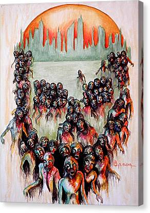 Zombie Apocalypse Canvas Print by Al  Molina