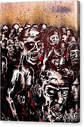 Zombie Army Canvas Print by Sam Hane