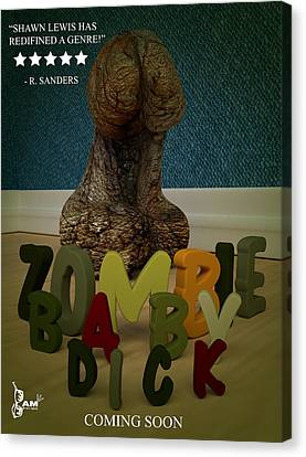 Zombie Baby Dick Canvas Print by Robert Sanders