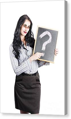 Zombie Businesswoman Canvas Print by Jorgo Photography - Wall Art Gallery