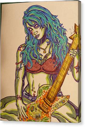 Zombie Guitar Canvas Print by Michael Toth