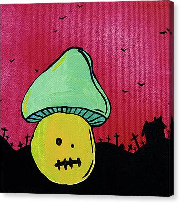 Zombie Mushroom 2 Canvas Print