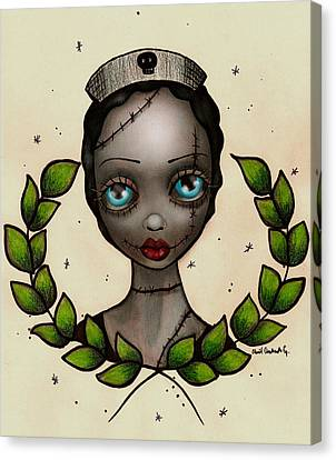 Gothic Canvas Print - Zombie Nurse by  Abril Andrade Griffith