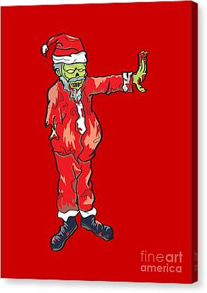 Zombie Santa Claus Illustration Canvas Print by Jorgo Photography - Wall Art Gallery