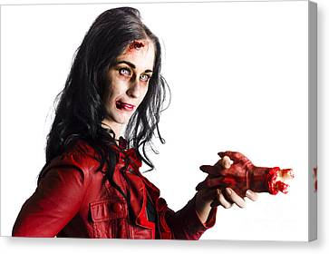 Zombie Shaking Severed Hand Canvas Print by Jorgo Photography - Wall Art Gallery