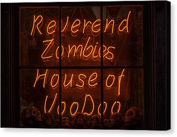Zombies House Of Voodoo Canvas Print by Garry Gay