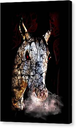 Zombified Horse Canvas Print by Gravityx9 Designs