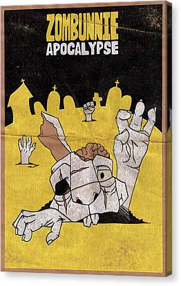 Zombunnie Apocalypse Canvas Print by Bizarre Bunny