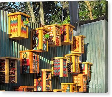 Canvas Print - Zoo Bird Box  by Joyce Woodhouse