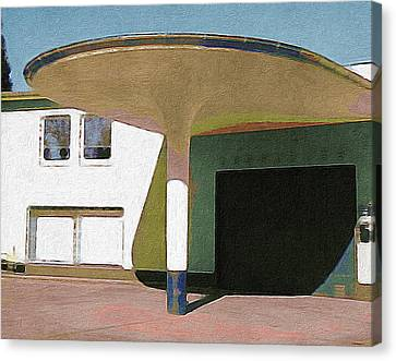 Zoo Garage, Cologne, Germany. Canvas Print