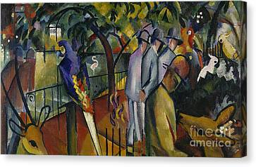 Zoological Garden I Canvas Print by August Macke