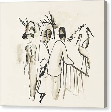 Heron Canvas Print - Zoological Garden II by August Macke