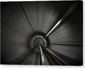 Zooming Along In The Tunnel Of Hope Canvas Print