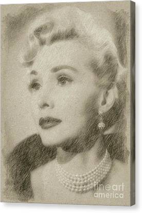 Noir Canvas Print - Zsa Zsa Gabor, Actress by Frank Falcon