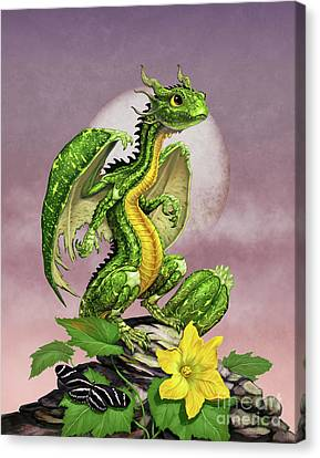 Canvas Print featuring the digital art Zucchini Dragon by Stanley Morrison