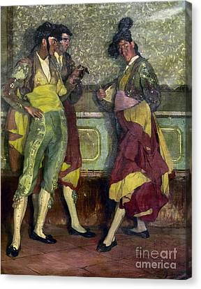 Zuloaga: Bullfighters Canvas Print by Granger