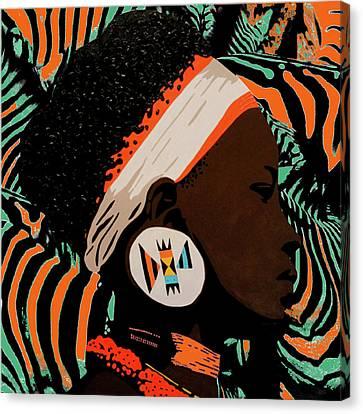 Zulu Girl Zebraprint Canvas Print