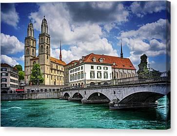 Zurich Old Town  Canvas Print by Carol Japp