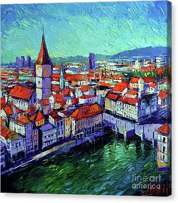 Zurich View Canvas Print by Mona Edulesco