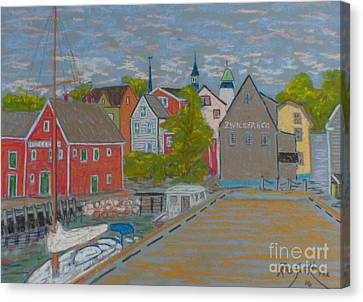 Zwickers Wharf Lunenburg Canvas Print