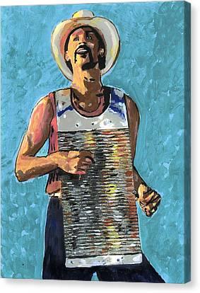 Zydeco Joe Canvas Print by Jerry Schwehm