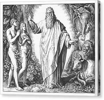 Sixth Day Of Creation, Genesis Canvas Print