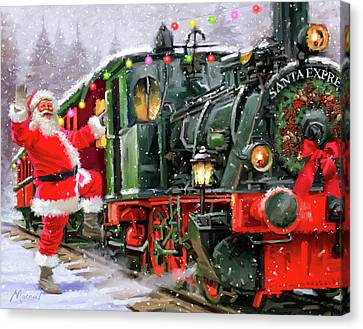 Christmas Train Canvas Prints Fine Art America