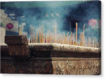 Ancient Dafo Buddhist Temple Canvas Print by Tunart