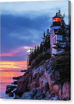 Bass Harbor Head Lighthouse At Twilight Canvas Print
