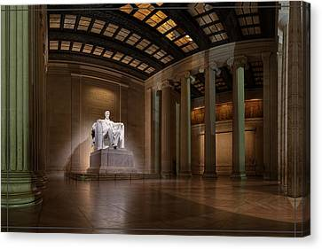 Inside The Lincoln Memorial - Custom Size Canvas Print
