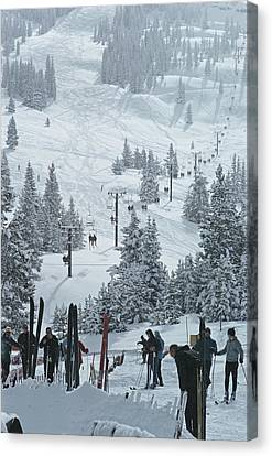 Skiing In Vail Canvas Print