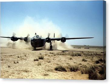 U.s Airforce Base Benghazi Libya Canvas Print by Michael Ochs Archives